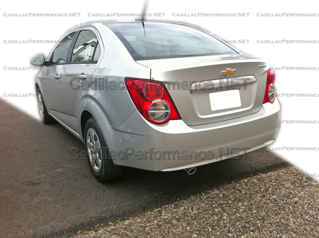 sonic with our custom stainless steel exhaust tip the chevrolet sonic
